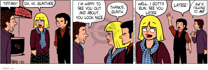Comic Strip Greg Evans  Luann 2018-01-30 talk