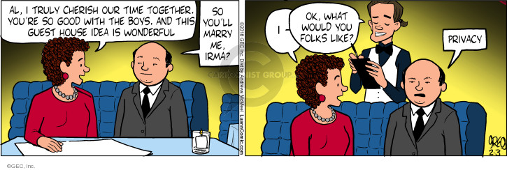Comic Strip Greg Evans  Luann 2018-02-03 boy