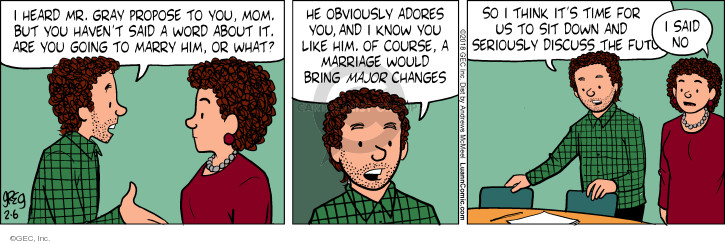 Comic Strip Greg Evans  Luann 2018-02-06 mom