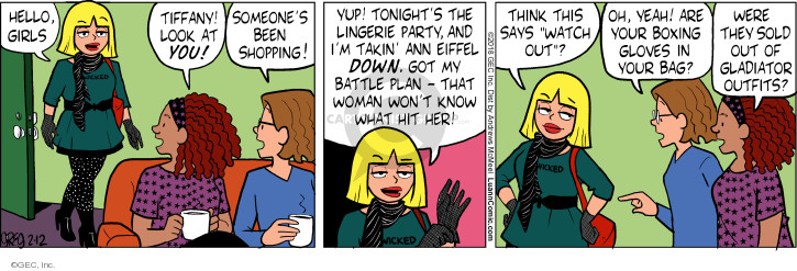 Comic Strip Greg Evans  Luann 2018-02-12 yup