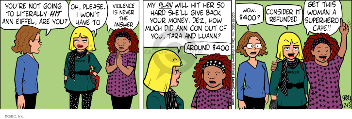 Comic Strip Greg Evans  Luann 2018-02-13 hit
