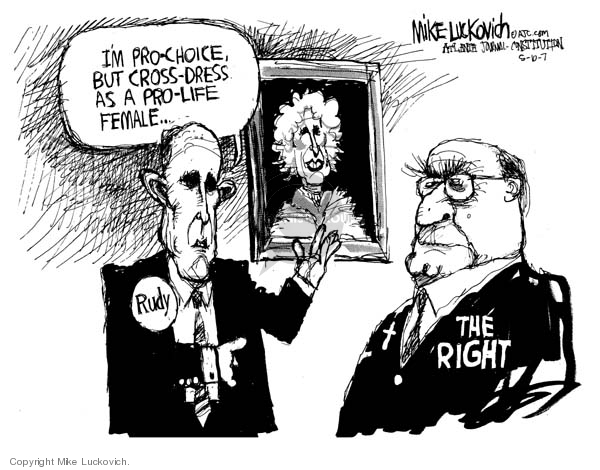 Cartoonist Mike Luckovich  Mike Luckovich's Editorial Cartoons 2007-05-10 woman
