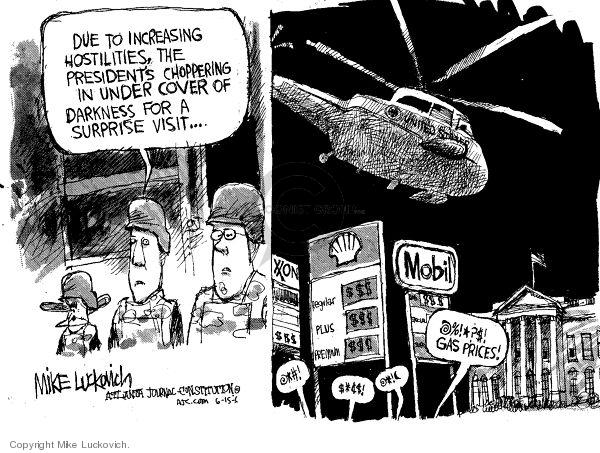 Mike Luckovich  Mike Luckovich's Editorial Cartoons 2006-06-15 energy policy