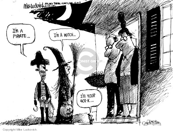 Cartoonist Mike Luckovich  Mike Luckovich's Editorial Cartoons 2008-10-17 finance investment