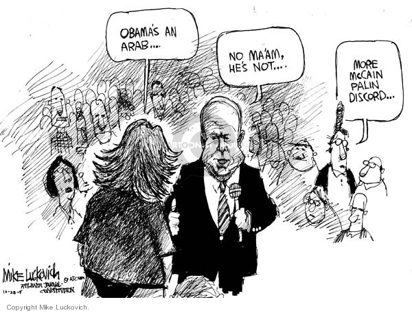 Mike Luckovich  Mike Luckovich's Editorial Cartoons 2008-10-28 John McCain