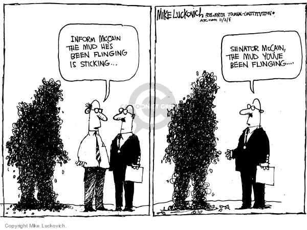 Cartoonist Mike Luckovich  Mike Luckovich's Editorial Cartoons 2008-11-02 2008 election