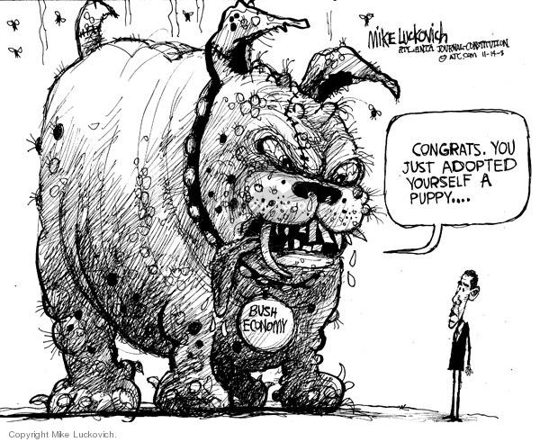 Cartoonist Mike Luckovich  Mike Luckovich's Editorial Cartoons 2008-11-14 Presidency