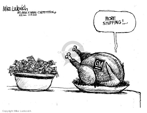 Cartoonist Mike Luckovich  Mike Luckovich's Editorial Cartoons 2008-11-19 economy