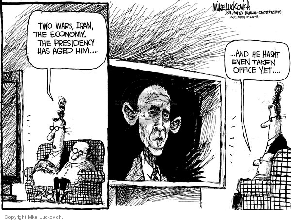 Mike Luckovich  Mike Luckovich's Editorial Cartoons 2008-11-21 Obama transition