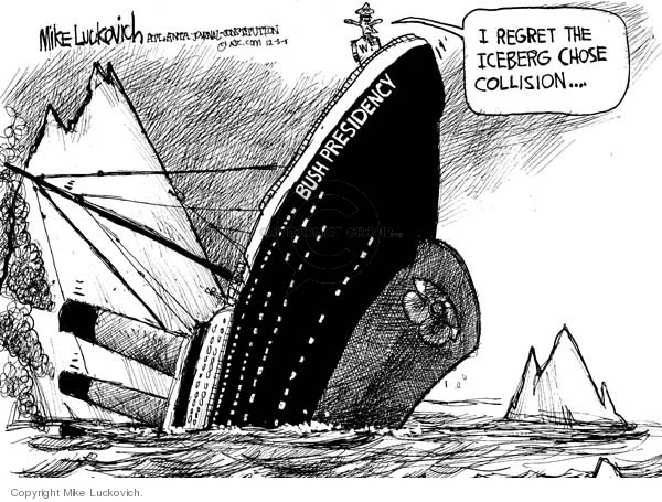 Cartoonist Mike Luckovich  Mike Luckovich's Editorial Cartoons 2008-12-03 accident