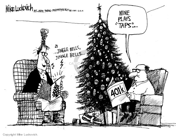 Cartoonist Mike Luckovich  Mike Luckovich's Editorial Cartoons 2008-12-04 finance investment
