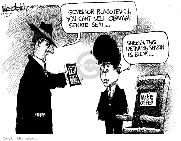 Cartoonist Mike Luckovich  Mike Luckovich's Editorial Cartoons 2008-12-10 conduct