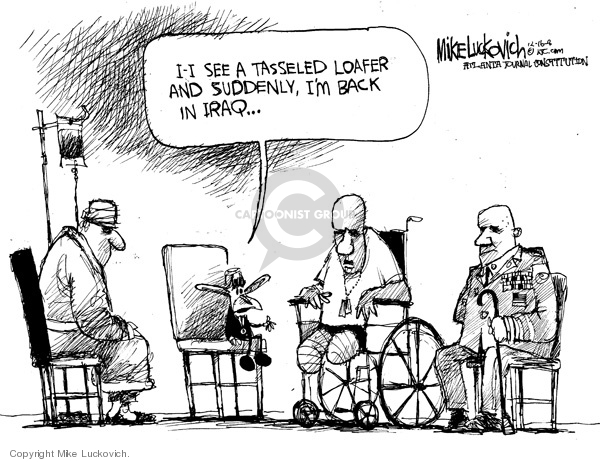 Mike Luckovich  Mike Luckovich's Editorial Cartoons 2008-12-16 veteran