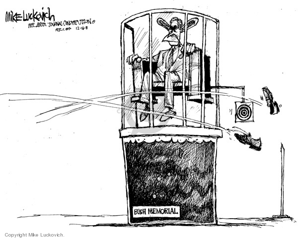 Cartoonist Mike Luckovich  Mike Luckovich's Editorial Cartoons 2008-12-18 Presidency