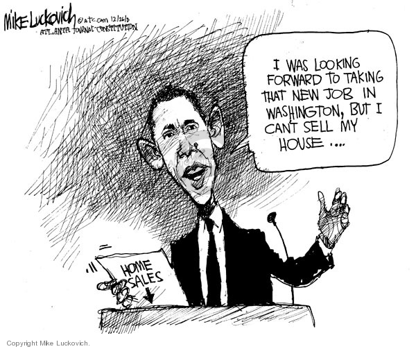 Cartoonist Mike Luckovich  Mike Luckovich's Editorial Cartoons 2008-12-24 economy