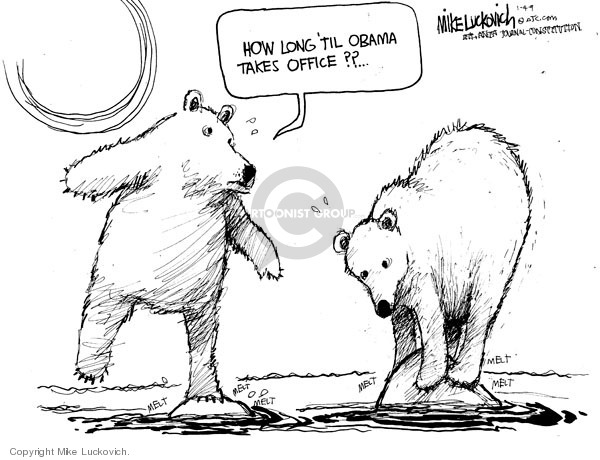 Cartoonist Mike Luckovich  Mike Luckovich's Editorial Cartoons 2009-01-04 animal rights