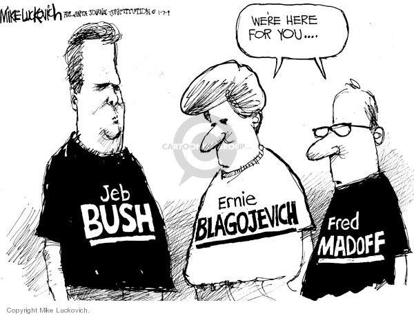 Mike Luckovich  Mike Luckovich's Editorial Cartoons 2009-01-07 fraud