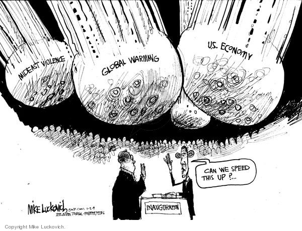 Cartoonist Mike Luckovich  Mike Luckovich's Editorial Cartoons 2009-01-02 economy