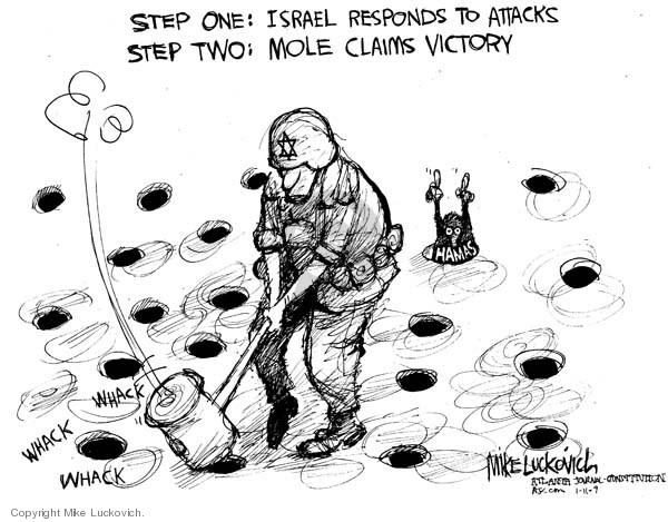 Cartoonist Mike Luckovich  Mike Luckovich's Editorial Cartoons 2009-01-11 claim