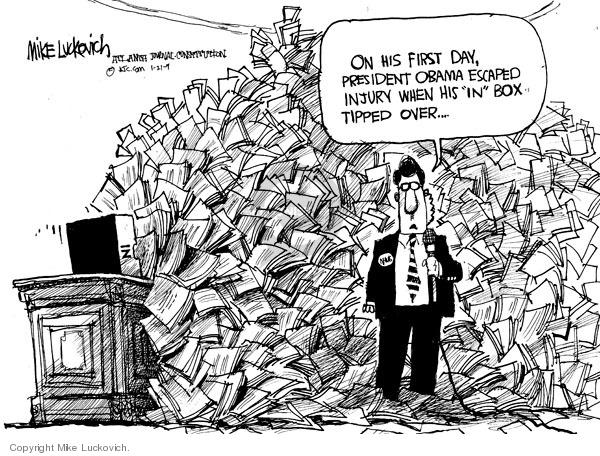 Cartoonist Mike Luckovich  Mike Luckovich's Editorial Cartoons 2009-01-21 Presidency