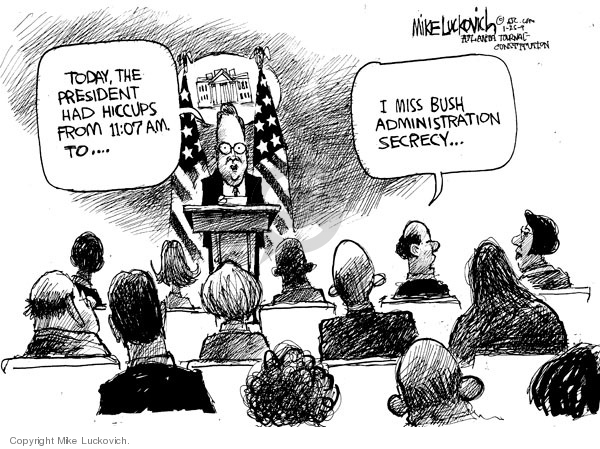 Mike Luckovich  Mike Luckovich's Editorial Cartoons 2009-01-23 Barack Obama