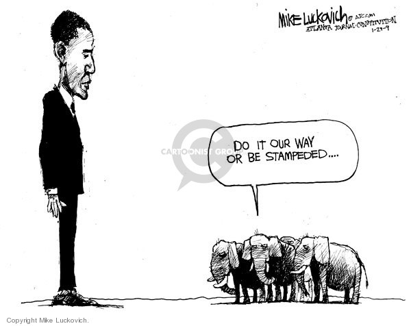 Mike Luckovich  Mike Luckovich's Editorial Cartoons 2009-01-29 Barack Obama