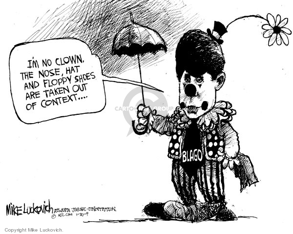 Cartoonist Mike Luckovich  Mike Luckovich's Editorial Cartoons 2009-01-30 conduct