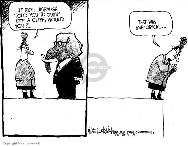 Cartoonist Mike Luckovich  Mike Luckovich's Editorial Cartoons 2009-01-30 recession
