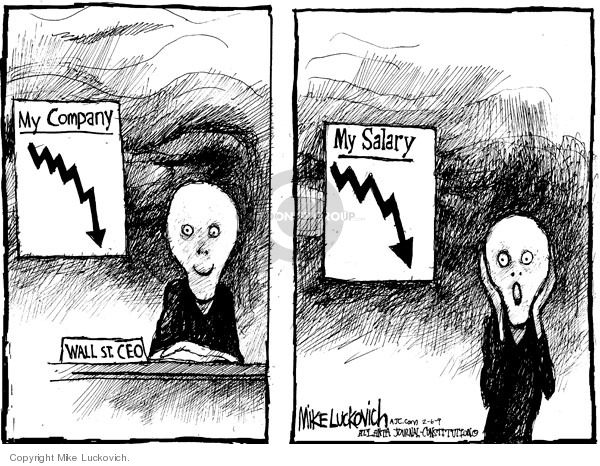 Cartoonist Mike Luckovich  Mike Luckovich's Editorial Cartoons 2009-02-06 finance investment