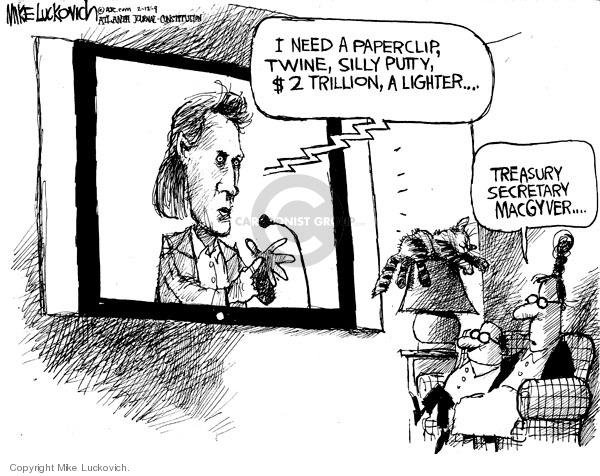 Cartoonist Mike Luckovich  Mike Luckovich's Editorial Cartoons 2009-02-12 secret