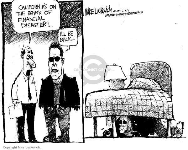 Cartoonist Mike Luckovich  Mike Luckovich's Editorial Cartoons 2009-02-19 Arnold