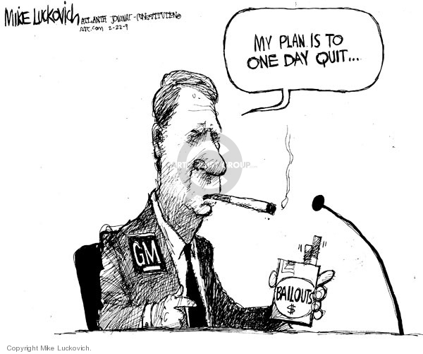 Mike Luckovich  Mike Luckovich's Editorial Cartoons 2009-02-20 smoking