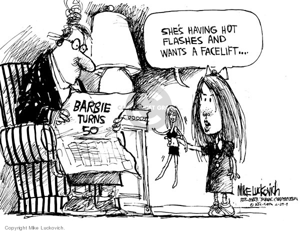 Cartoonist Mike Luckovich  Mike Luckovich's Editorial Cartoons 2009-02-27 plastic surgery