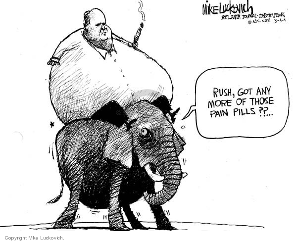 Cartoonist Mike Luckovich  Mike Luckovich's Editorial Cartoons 2009-03-04 pain