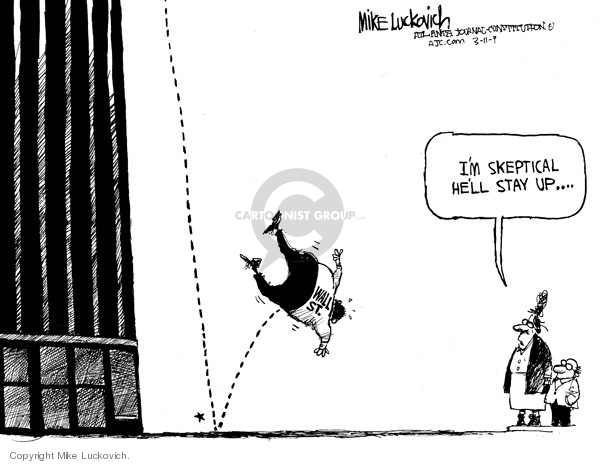 Mike Luckovich  Mike Luckovich's Editorial Cartoons 2009-03-12 stock market