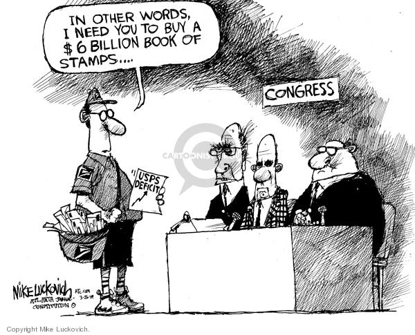 Mike Luckovich  Mike Luckovich's Editorial Cartoons 2009-03-26 billion