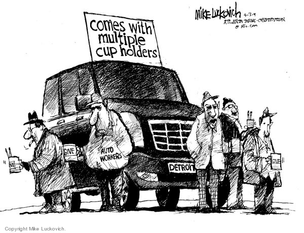 Cartoonist Mike Luckovich  Mike Luckovich's Editorial Cartoons 2009-04-03 unemployment
