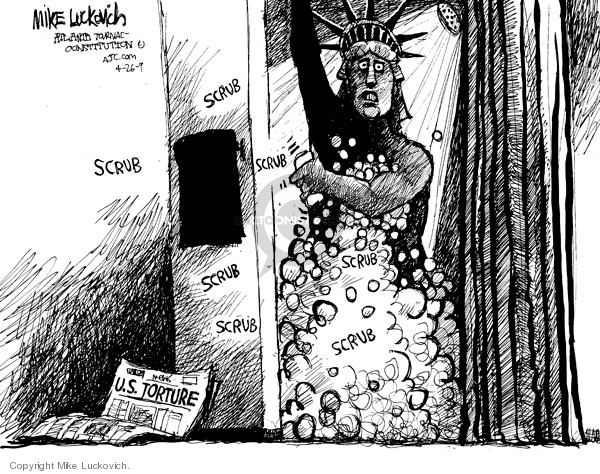 Cartoonist Mike Luckovich  Mike Luckovich's Editorial Cartoons 2009-04-24 liberty