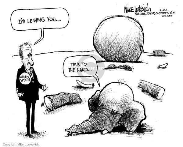 Mike Luckovich  Mike Luckovich's Editorial Cartoons 2009-04-29 republican politician