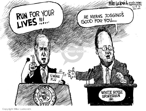 Mike Luckovich  Mike Luckovich's Editorial Cartoons 2009-05-01 influenza