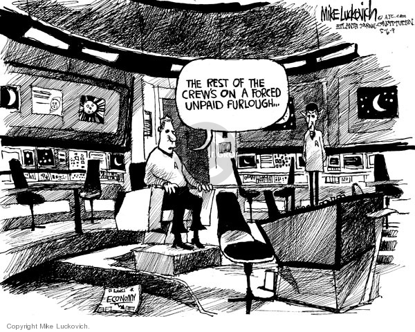 Cartoonist Mike Luckovich  Mike Luckovich's Editorial Cartoons 2009-05-06 unemployment