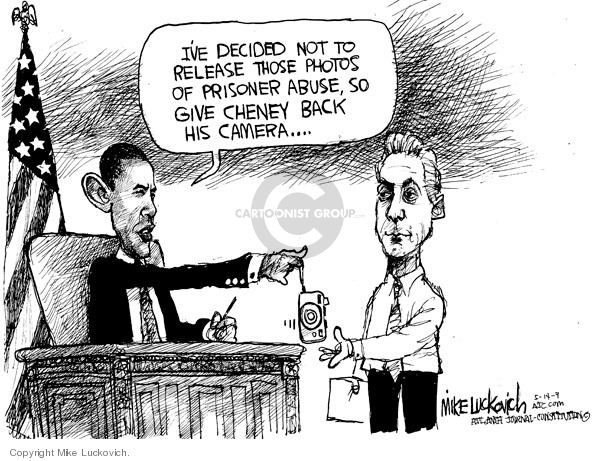 Mike Luckovich  Mike Luckovich's Editorial Cartoons 2009-05-14 Obama terrorism