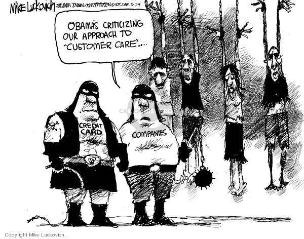 Cartoonist Mike Luckovich  Mike Luckovich's Editorial Cartoons 2009-05-15 business economy