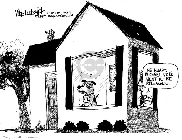 Cartoonist Mike Luckovich  Mike Luckovich's Editorial Cartoons 2009-05-19 animal rights