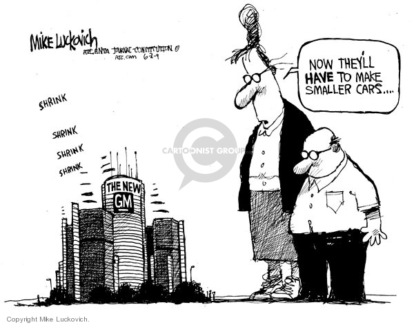 Cartoonist Mike Luckovich  Mike Luckovich's Editorial Cartoons 2009-06-02 economy size