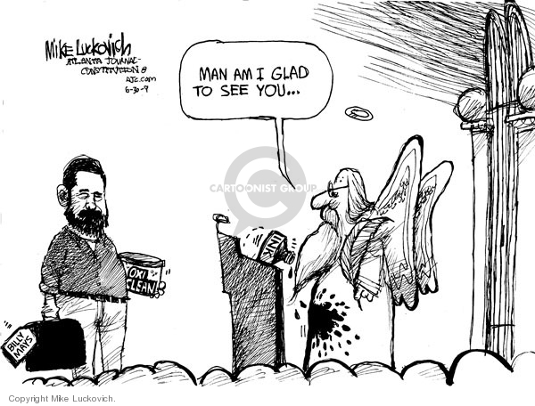 Mike Luckovich  Mike Luckovich's Editorial Cartoons 2009-06-30 death