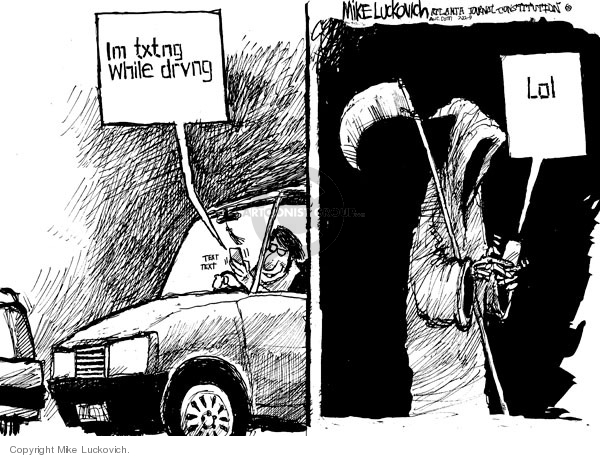 Cartoonist Mike Luckovich  Mike Luckovich's Editorial Cartoons 2009-07-22 accident