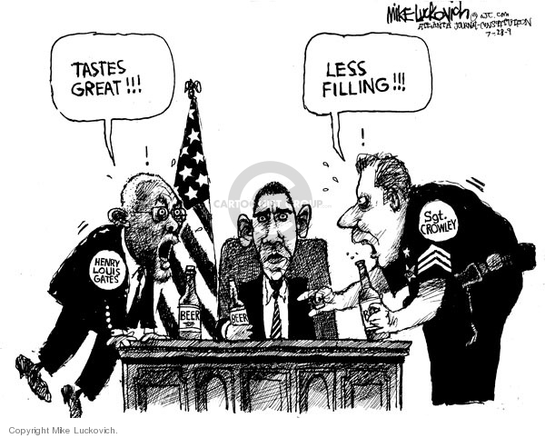 Cartoonist Mike Luckovich  Mike Luckovich's Editorial Cartoons 2009-07-27 racial