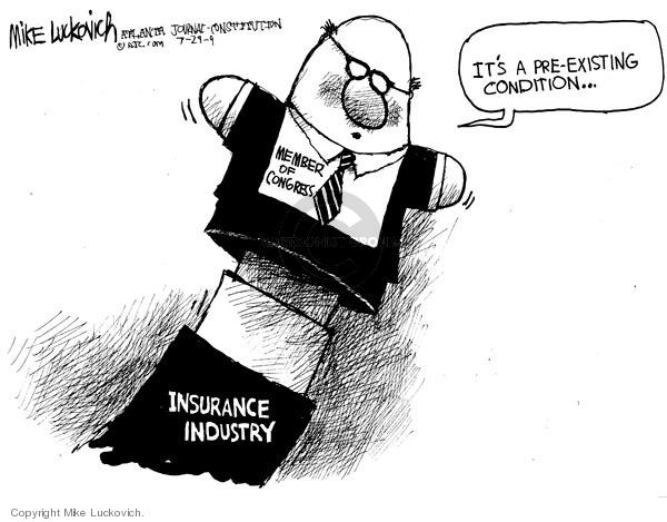 Cartoonist Mike Luckovich  Mike Luckovich's Editorial Cartoons 2009-07-29 congress health care