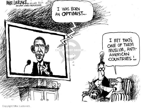 Mike Luckovich  Mike Luckovich's Editorial Cartoons 2009-07-31 Barack Obama